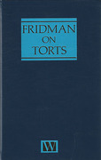 Cover of Fridman on Torts