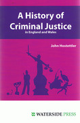 Cover of A History of Criminal Justice in England and Wales