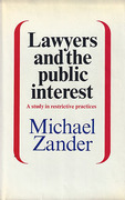 Cover of Lawyers and the Public Interest: A Study in Restrictive Practices