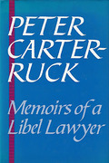 Cover of Memoirs of a Libel Lawyer