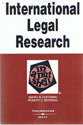 Cover of Hoffman and Berring 's International Legal Research in a Nutshell
