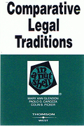 Cover of Comparative Legal Traditions in a Nutshell