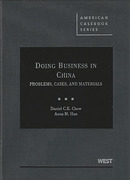 Cover of Doing Business in China: Problems, Cases and Materials