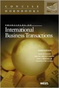 Cover of Principles of International Business Transactions