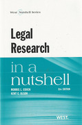 Cover of Legal Research in a Nutshell