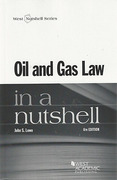 Cover of Oil and Gas Law in a Nutshell
