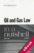 Cover of Oil and Gas Law in a Nutshell (eBook)