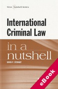 Cover of International Criminal Law in a Nutshell (eBook)