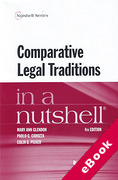 Cover of In a Nutshell: Comparative Legal Traditions (eBook)