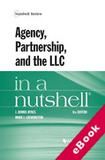 Cover of Agency, Partnership, and the LlC in a Nutshell (eBook)