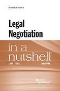 Cover of Legal Negotiation in a Nutshell