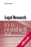 Cover of Legal Research in a Nutshell (eBook)