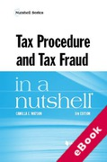 Cover of Tax Procedure and Tax Fraud in a Nutshell (eBook)