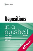 Cover of Depositions in a Nutshell (eBook)