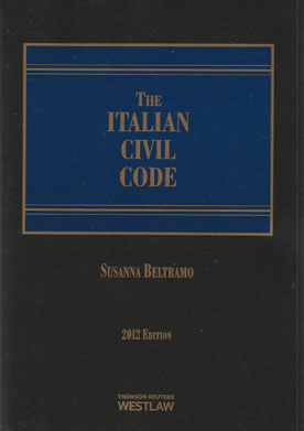 Wildy sons ltd the worlds legal bookshop search results for the italian civil code 2012 edition fandeluxe Choice Image