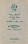 Cover of Jubilee Lectures Celebrating The Foundation of the Faculty of Law University of Birmingham