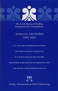 Cover of The Lord Slynn of Hadley European Law Foundation Annual Lectures 1999 - 2003