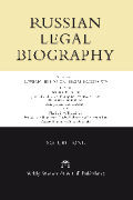 Cover of Russian Historical Legal Biography - Series 1: Volume 1
