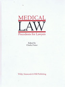 Cover of Medical Law Precedents for Lawyers