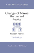 Cover of Change of Name: The Law and Practice