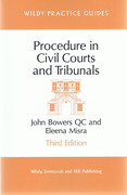Cover of Procedure in Civil Courts and Tribunals