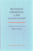 Cover of Russian Criminal Law and Procedure