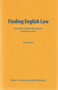 Cover of Finding English Law: Key Titles for Non-UK Lawyers and Researchers