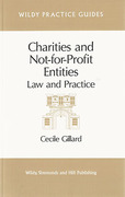 Cover of Charities and Not-for-Profit Entities: Law and Practice