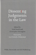 Cover of Dissenting Judgments in the Law