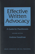 Cover of Effective Written Advocacy: A Guide for Practitioners