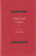 Cover of Using Legal Culture
