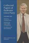 Cover of Collected Papers of Professor Clive Parry