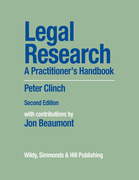 Cover of Legal Research: A Practitioner's Handbook