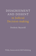 Cover of Disagreement and Dissent in Judicial Decision-making