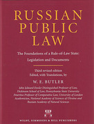 Cover of Russian Public Law: The Foundations of a Rule-of-Law State: Legislation and Documents