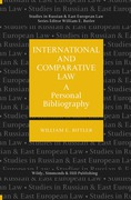 Cover of International and Comparative Law: A Personal Bibliography
