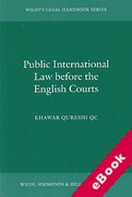 Cover of Public International Law Before the English Courts (eBook)