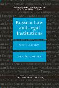 Cover of Russian Law and Legal Institutions