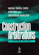 Cover of Construction Arbitrations