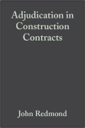 Cover of Adjudication in Construction Contracts