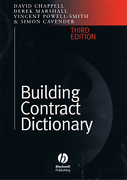 Cover of Building Contract Dictionary