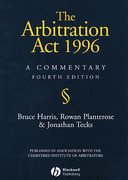 Cover of The Arbitration Act 1996: A Commentary
