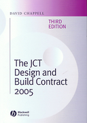 Cover of The JCT Design and Build Contract 2005