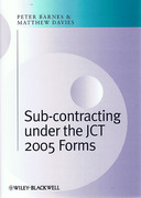 Cover of Subcontracting Under the JCT 2005 Forms