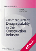 Cover of Cornes and Lupton's Design Liability in the Construction Industry (eBook)
