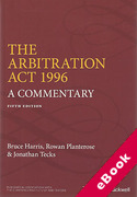 Cover of The Arbitration Act 1996: A Commentary (eBook)