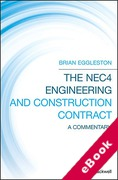 Cover of The NEC4 Engineering and Construction Contract: A Commentary (eBook)
