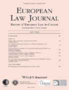 Cover of European Law Journal: Print Only