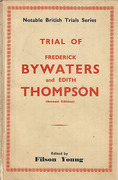 Cover of Trial of Frederick Bywaters and Edith Thompson