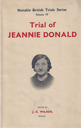 Cover of Trial of Jeannie Donald  (with Jacket)